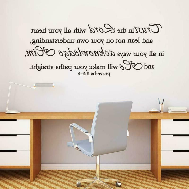 ufengke trust the lord wall stickers quotes