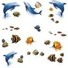 UNDER THE SEA Wall Stickers 24 Decals Dolphins Fish Ocean Be