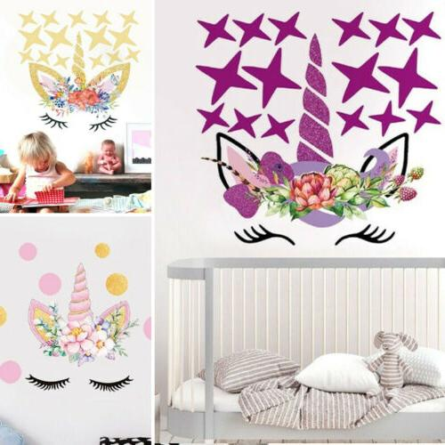 fairy unicorn stars wall dot stickers decals