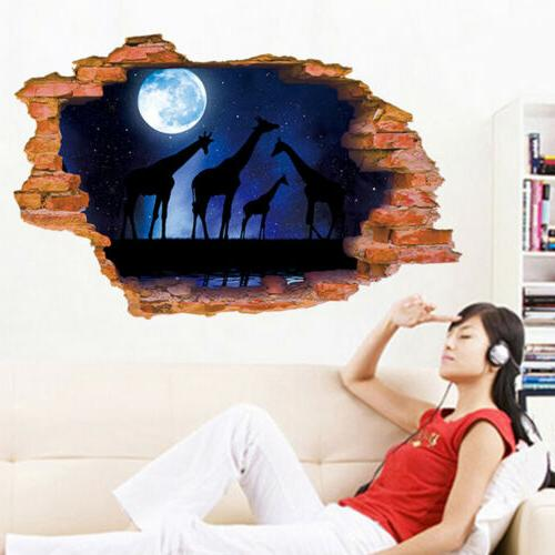 US 3D Wall Art Removable Wall Decals Home Kid Bedroom