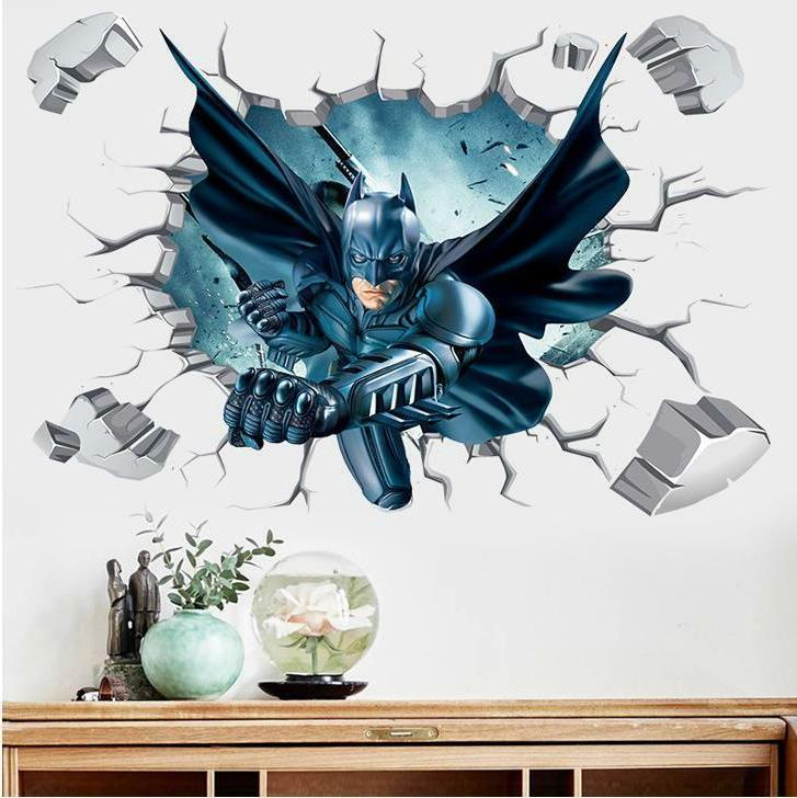 Superhero Cartoon Room Decal Wallpaper