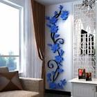 US DIY 3D Flower Mirror Wall Decals Stickers Art Home Room V