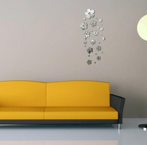 USA 3D Flower Sticker Wall Decals Home Removable