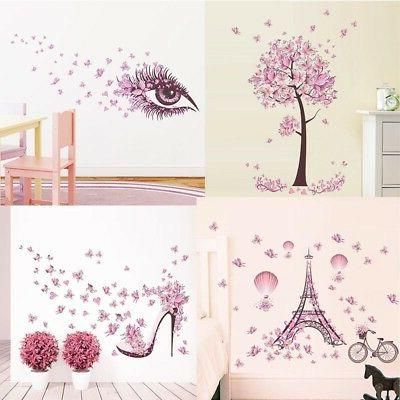 removable butterfly decals vinyl art mural wall