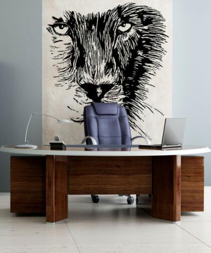 Stickerbrand Vinyl Wall Decal Sticker Large Lion Stare Down