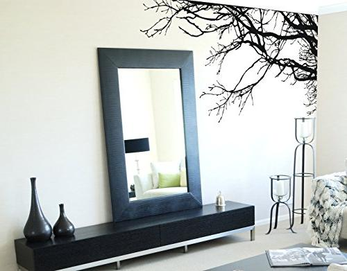 Large Sticker Tree Branches, Tall X 100in To Right. No Paint Wall Stencil Easy Way.