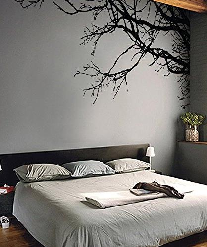 Large Sticker Semi-Gloss Black Tree 44in X 100in Wide, To Wall Way.