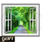 VWAQ Greenery Wall Decal 3D Forest Wall Cling Peel and Stick