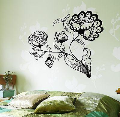wall decal flower floral for bedroom vinyl