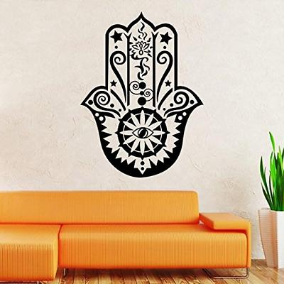 BIBITIME Wall Decal Vinyl Sticker Decals Hamsa Hand Eye Indi