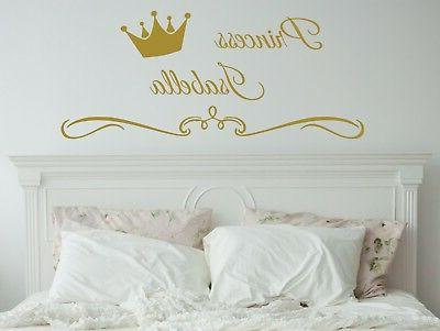 wall decals personalized name decor princess crown