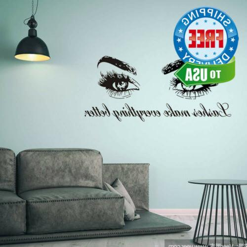 Boodecal Wall Decals - Lashes Better -