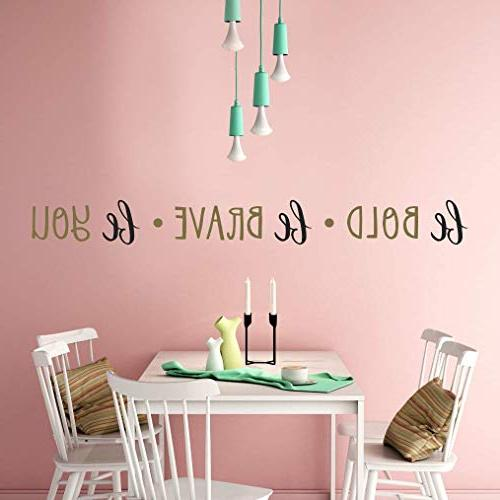 """Paper Riot Co. Decals Inspirational Room Easy to Bold. Twelve 6""""x8"""" DIY Decoration"""