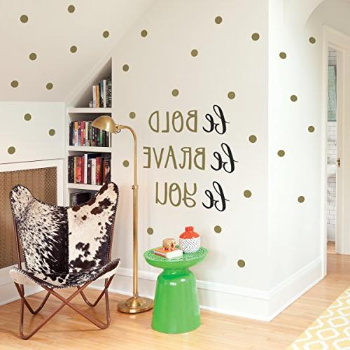Paper Decals Art Inspirational Room Decor Easy Peel and Stick on Painted Walls Bold. Be Twelve Vinyl DIY Decoration