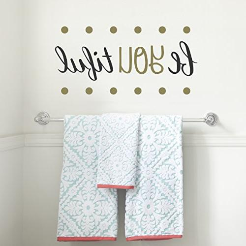Paper Riot Decals Inspirational Easy to Peel Stick + Painted - Be Bold. Twelve DIY Decoration