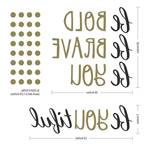 """Paper Co. Wall Decals Stickers Inspirational Room 