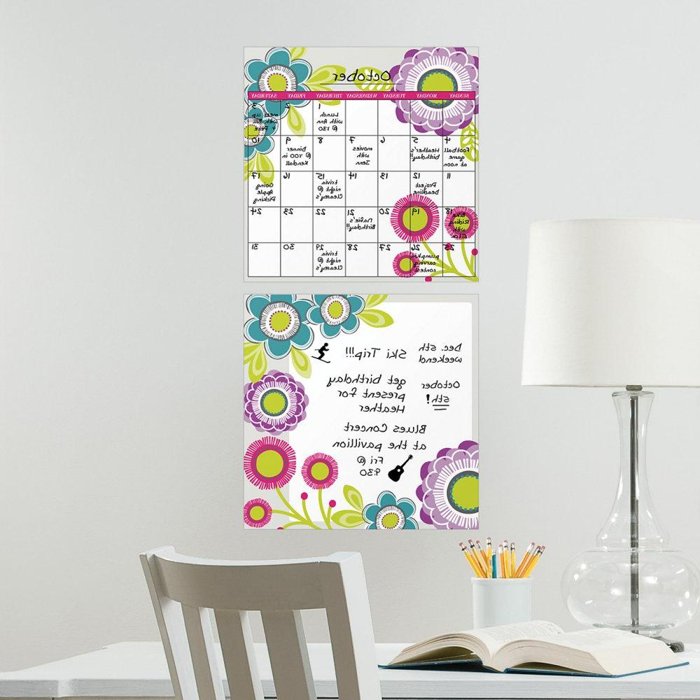 Wall Pops Poppy Dry-Erase Board/Calendar Combo  Wall Decals