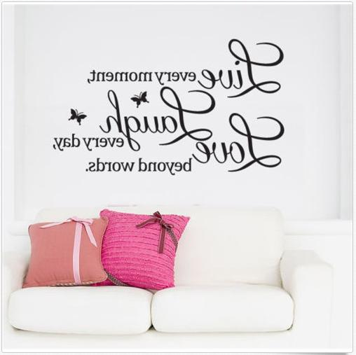 Wall Quote Decal Live moment,Laugh every day,Love