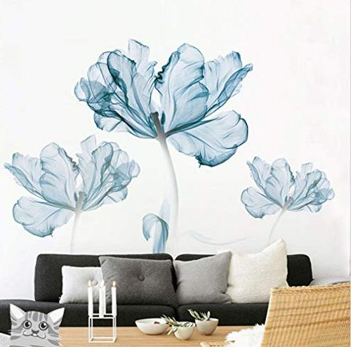 DERUN TRADING Stickers & Murals Home Living Room Flower Decals Home Improvement Paint Wall Murals Decor Mural Paper
