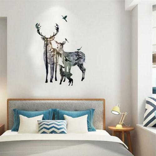 wall stickers removable deer forest decals art