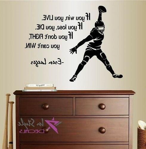 wall vinyl decal football player if you