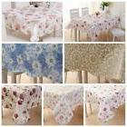 Waterproof  PVC Vinyl Wipe Clean Tablecloth Dining Kitchen T