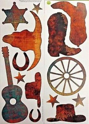 western cowboy themed wall stickers 14 decals