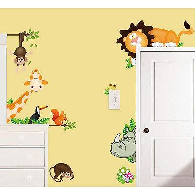 Wild Animal Wall Decals Baby