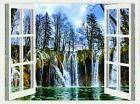 Window to Italy Venice boat brand new 3D sticker wall Decal