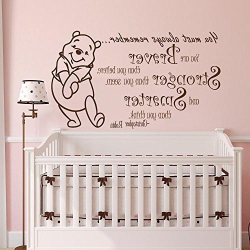 Winnie The Pooh Quote Wall Decal Vinyl Sticker