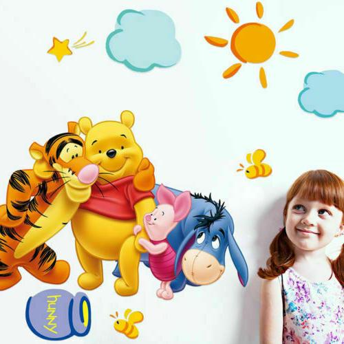 Winnie the Pooh Room Decal Decor Sticker Kids Baby BedroomFREE SHIP