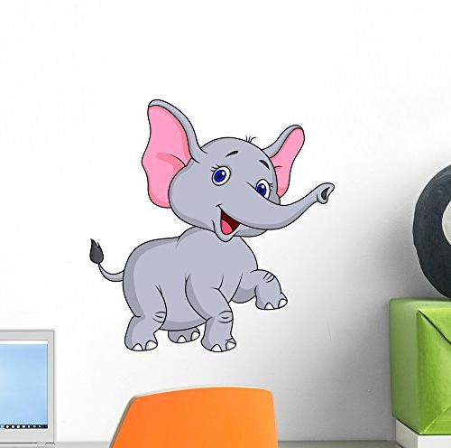 wm257455 elephant cartoon dancing peel