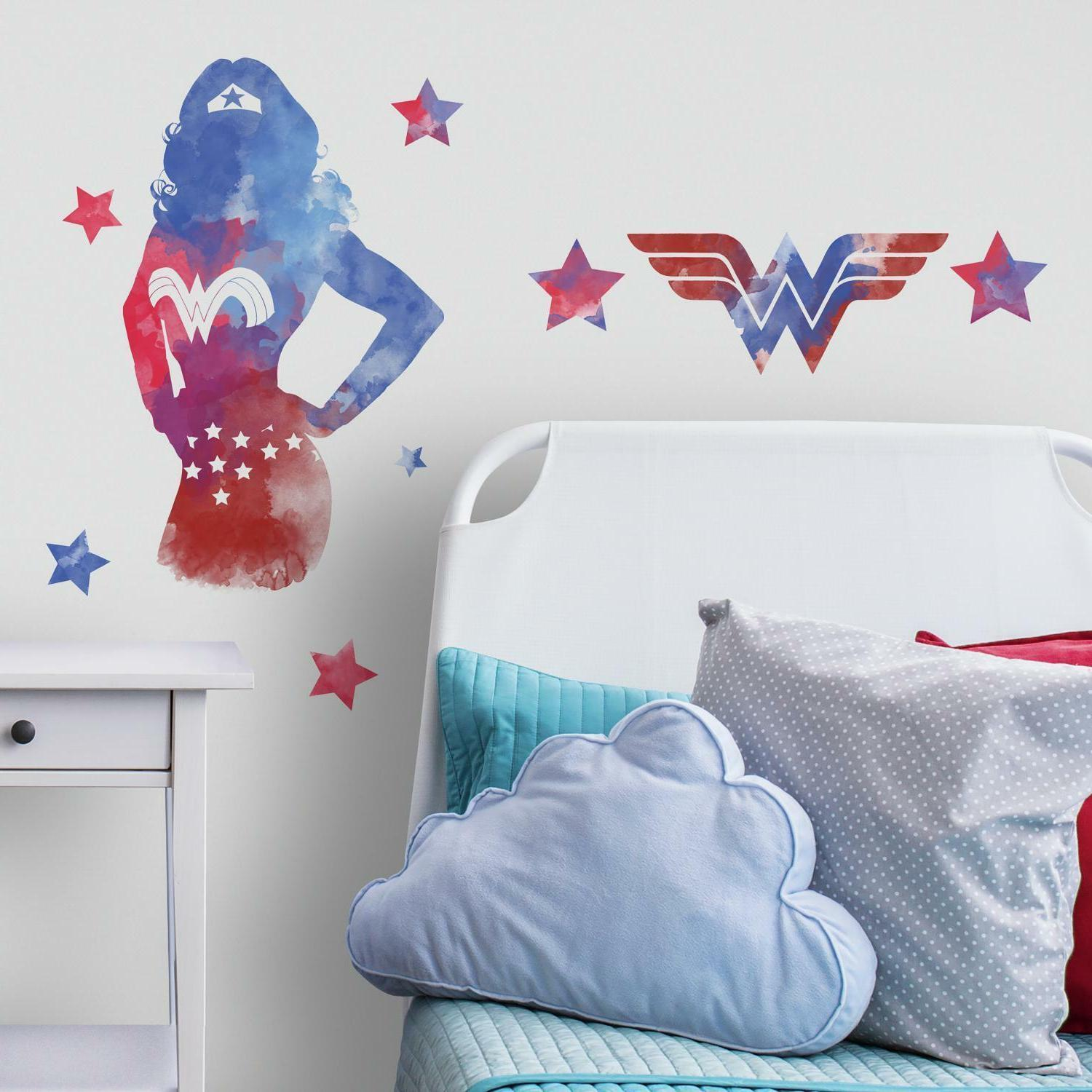 WONDER WOMAN Watercolor WALL STICKERS MURAL Giant DC Comics