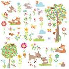 WOODLAND CREATURES WALL DECALS 39 New Baby Forest Animals St