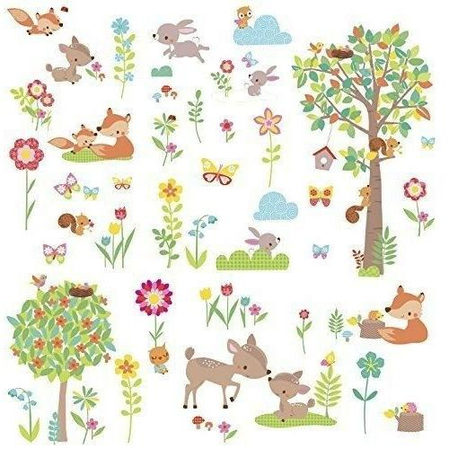woodland creatures wall decals animals trees room