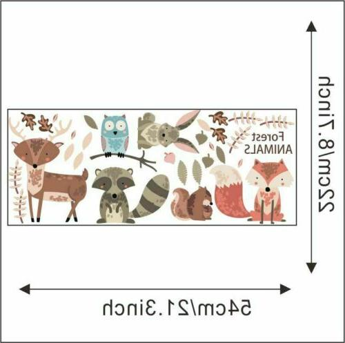Woodland Forest Animals Wall Decals Fox Decor