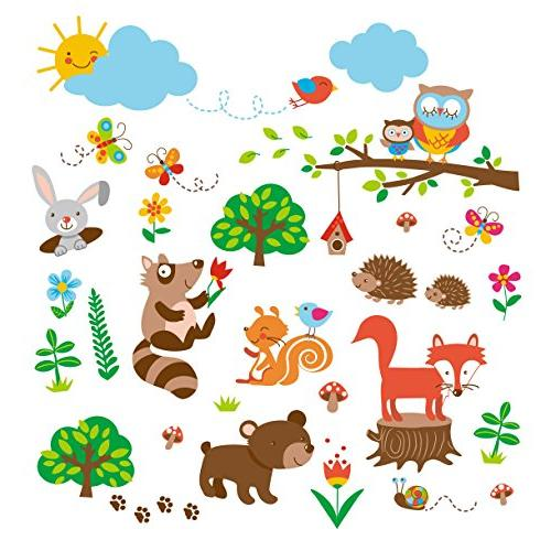 woods baby nursery decorative wall