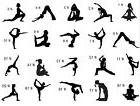 Yoga Meditation vinyl Decal Sticker - car window / wall art