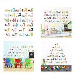 Large Alphabet ABC For Kids Room With Picture Wall Decal Sti