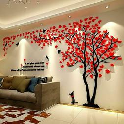 Large Family Tree Wall Decals 3D DIY Acrylic Wall Stickers M