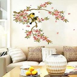 Large Flower Vines Birds Mural Vinyl Wall Sticker Decal Remo