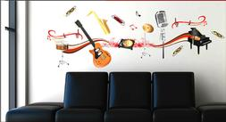 Large Music Instruments Wall Decals Stickers Teen Adult Remo