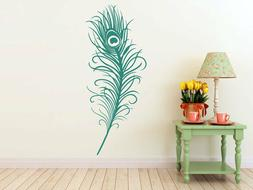 Large Peacock Decal   Vinyl Wall Sticker