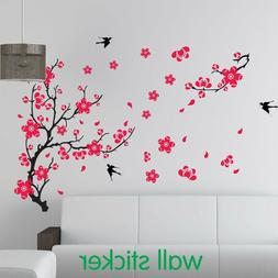 Large Pink Plum Cherry Blossom Traditional Style Wall Decal