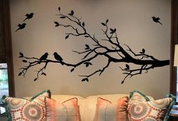 Large Tree Branch Wall Decal Deco Art Sticker Mural with 10
