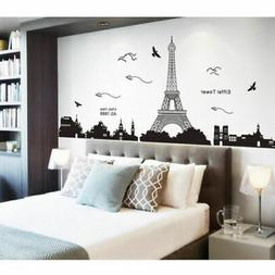 Large Vinyl Quotes Wall Mural Decor Eiffel Tower Wall Sticke