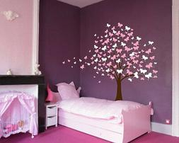 Large Wall Tree Baby Nursery Decal Butterfly Cherry Blossom