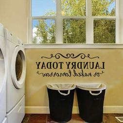 Laundry Room Saying Quote Wall Sticker Dry Cleaner Wall Art