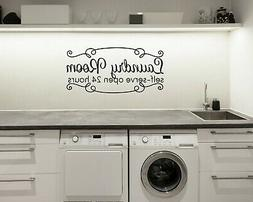 LAUNDRY ROOM SELF SERVE RusticFarmhouse Home Wall Decal Word