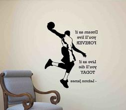 lebron james wall decal quote poster gift